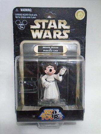 Minnie Mouse Princesa Leia - Star Wars - Star Tours - Disney