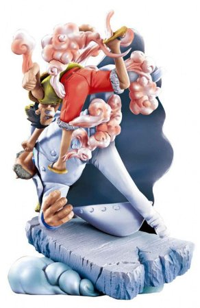 Luffy Vs Garp - One Piece -  Diorama - Log Box - Megahouse