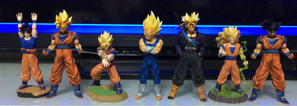 Banpresto Dragon Ball Z Set com 07 Figures Goku Vegeta Trunks SSJ  Loose