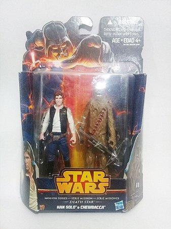 Star Wars Mission Series Death Star Han Solo e Chewbacca Hasbro