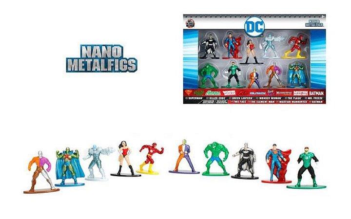 DC Nano MetalFigs 100% Metal Pack Com 10