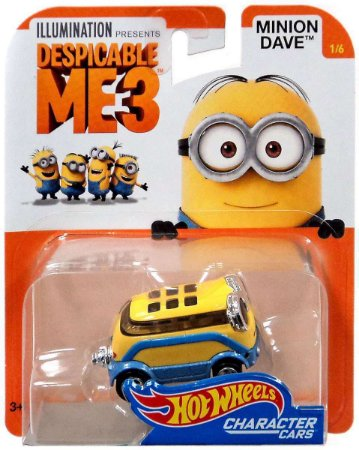 Hot Wheels Meu Malvado Favorito Minion Dave 1/64