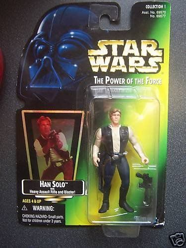 Star Wars Han Solo Heavy Assault Power of the Force Kenner