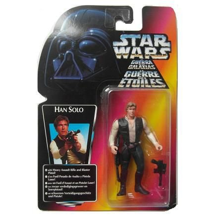 Star Wars Han Solo With Rifle and Blaster Power of the Force Kenner