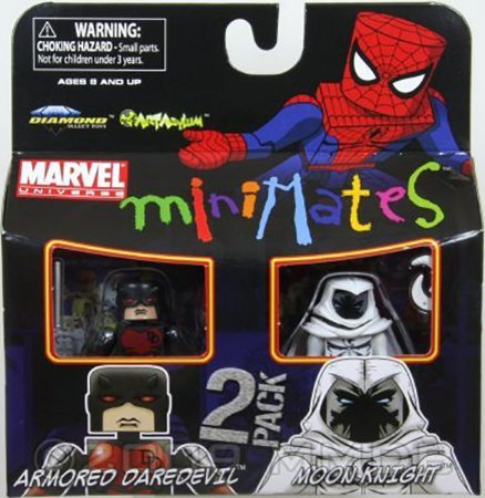 Marvel Minimates Armored Daredevil e Moon Knight  2 Pack Raro