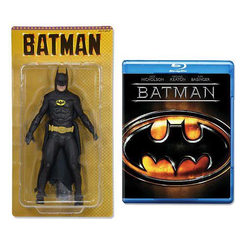Neca DC Batman 1989 Michael Keaton Edição de aniversário 25 anos + Bluy Ray