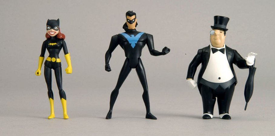Dc Universe JLU Batgirl The Penguin Nightwing 3 Pack