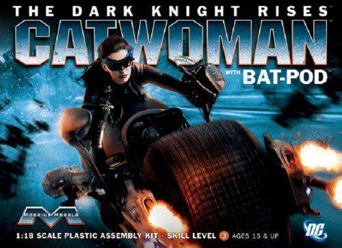 Moebius Models DC Batman TDKR Catwoman With Batpod Model Kit 1:18