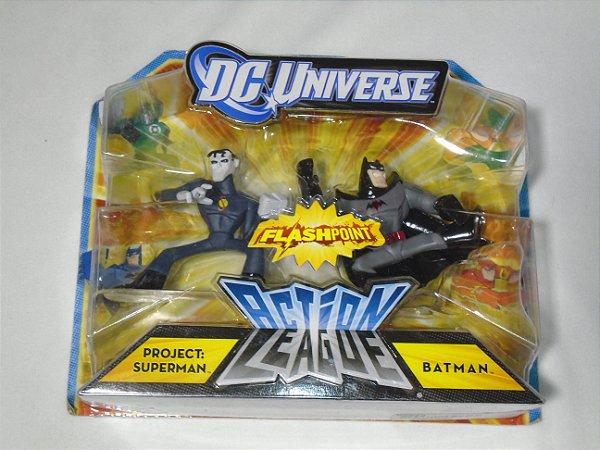 Dc Universe Action League Project: Superman And Batman Mattel