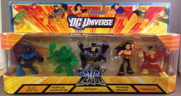 Dc Universe Action League Liga da Justiça Pack com 05 Mattel