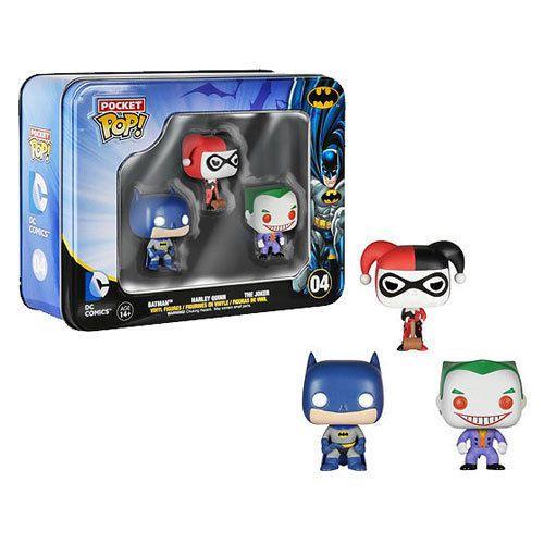 Funko Pocket Pop! Dc Batman Harley Quinn The Joker 3 Pack
