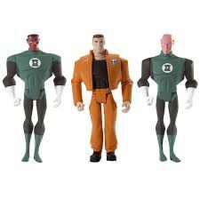 Dc Universe JLU Green Lantern Origins Pack com 3 Hal Jordan Sinestro Abin Sur