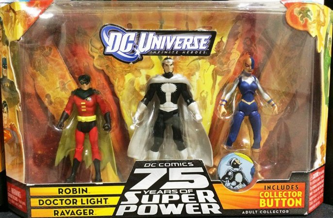DC Universe Infinite Heroes 75 Years Robin Doctor Light Ravager Raro
