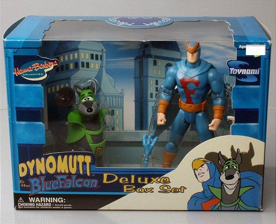 Toynami Hanna-Barbera Dynomutt & The Blue Falcon (Falcão azul) Deluxe Box Set Muito Raro