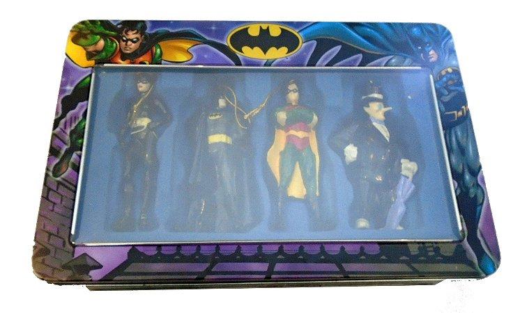 Kurt S Adler World DC Batman Pack com 04 Ornamento de Natal Raro