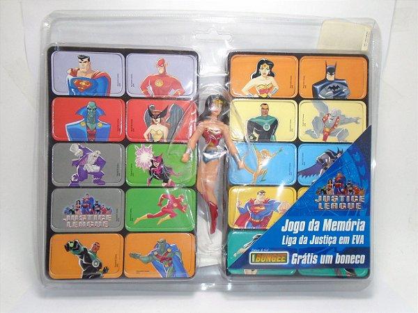 Bungee do Brasil DC Jogo da Memória Liga da Justiça + Boneca Mulher Maravilha