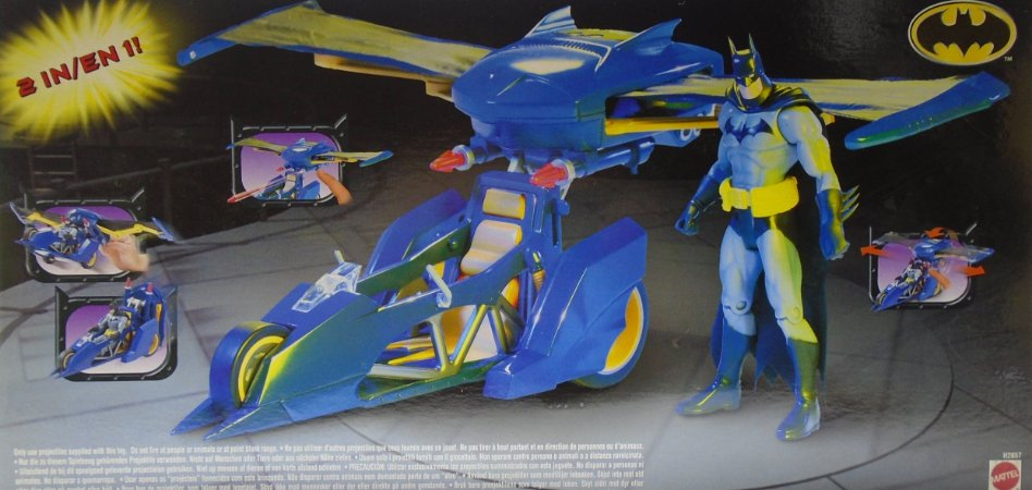 Mattel DC Veículo Aerobat Batman  2 em 1 Moto e Nave