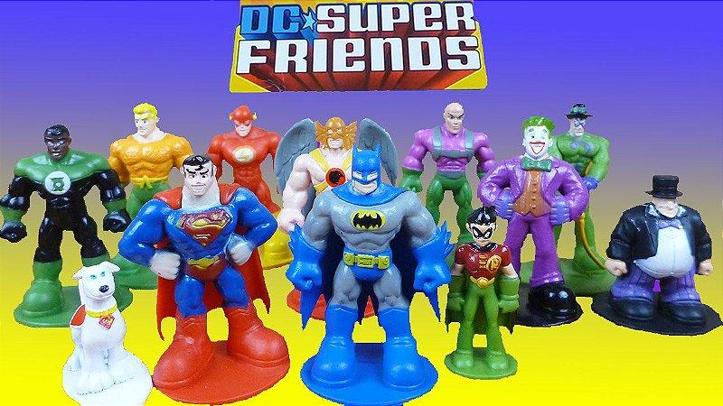 Phidal Storybook DC Super Friends My Busy Books + 12 Figuras e mini Playmat