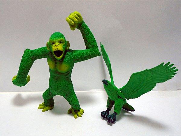 Mattel DC Teen Titans Beast Boy (Mutano) Macaco e Águia Loose