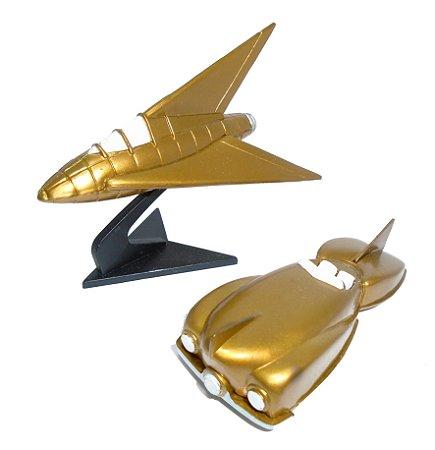 DC Direct Silver Age Arqueiro Verde Arrowcar & Arrowplane Compatível escala 1/64
