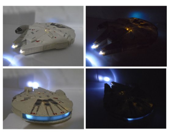 Hasbro Star Wars Millenium Falcon 24 cm com Luz