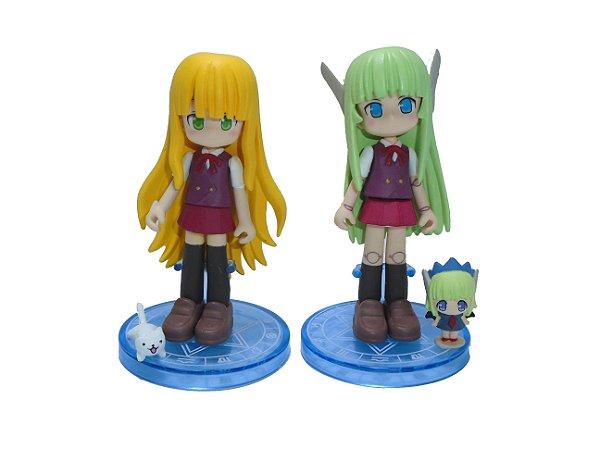 Konami Figumate Negima! Evangeline e Chachamaru SD Set com 02