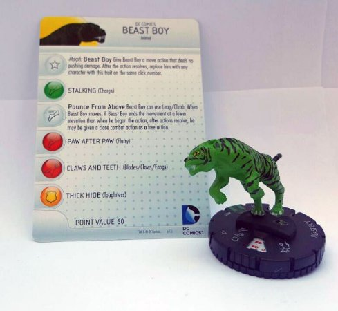 Heroclix Beast Boy (Mutano) Tigre #021