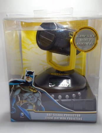 SAKAR DC Batman Projetor Bat Sinal Vintage Alarme e Rádio Relógio