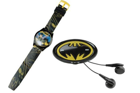Candide DC Batman Conjunto Mestre Relógio Digital + Rádio FM
