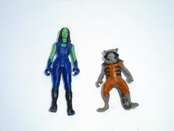 Marvel Guardiões da Galáxia Gamorra e  Rocket Racoon