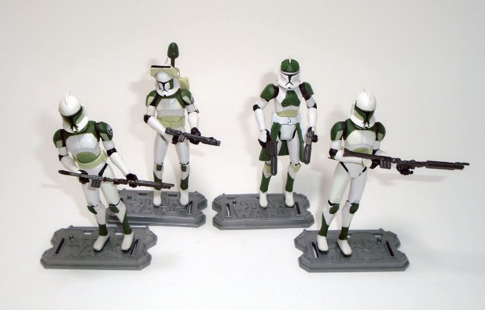 Hasbro Star Wars Clone Trooper Verde 4 pack