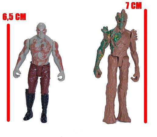 Hasbro Marvel Guardiões da Galáxia Groot e Drax - Set com 02
