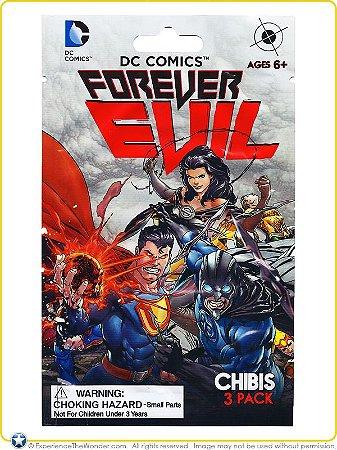 DC Forever Evil Chibis Pack com 03 Miniaturas Lacrado