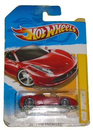 HoT Wheels HW Primiere 458  Spider 1/64