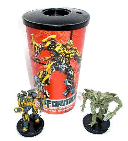 Cinemark Copo Transformers 2 Rotf + 2 Miniaturas RARO