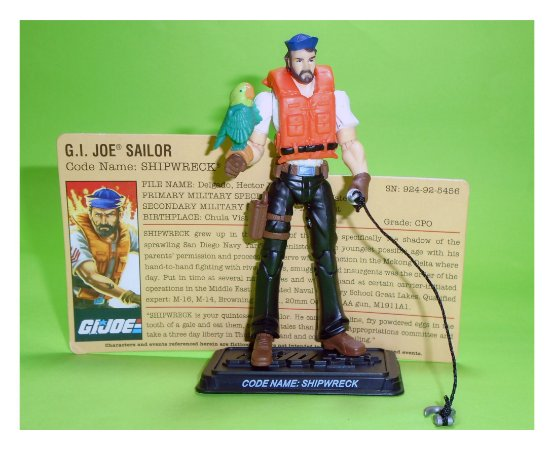 Hasbro G.i.Joe 25th Shipwreck Comick Pack Gijoe Loose