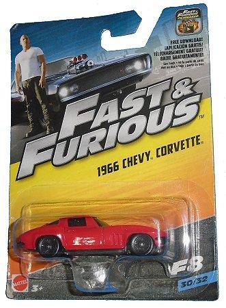 Hot Wheels Velozes e Furiosos  1966 Chevy Corvette 1/64