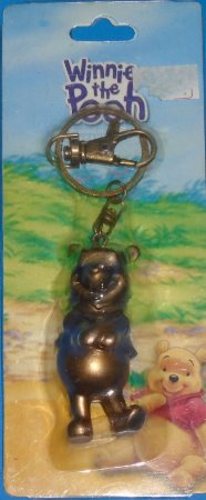 Disney Chaveiro Ursinho Pooh Dourado