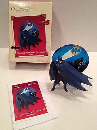 Hallmark Keepsake 2002 Ornamento de Natal DC Batman Calling The Caped Crusader