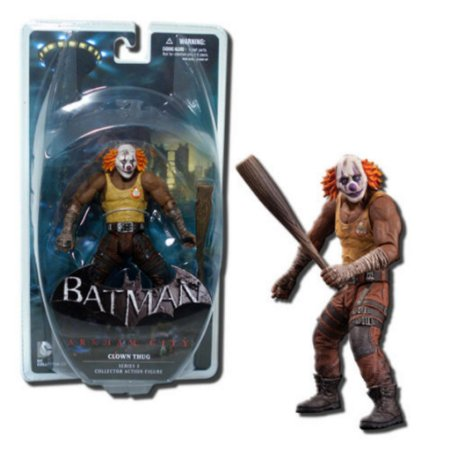Mattel DC Direct Batman Arkham City Joker´s  Clown Thug com bastão