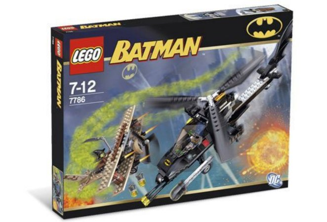 Lego 7786 DC Batman - The Batcopter The Chase for Scarecrow 293 Peças