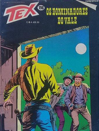 Tex #196 Ed. RioGráfica Os Dominadores do Vale