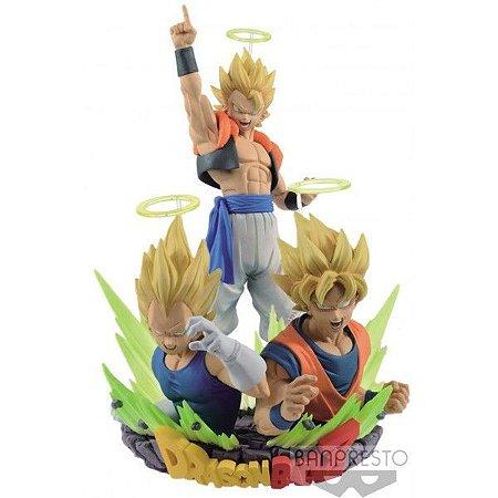 Banpresto Dragon Ball Z Com: Figuration Vol 1 & Vol 2 Set SSJ Gogeta, Goku, Vegeta
