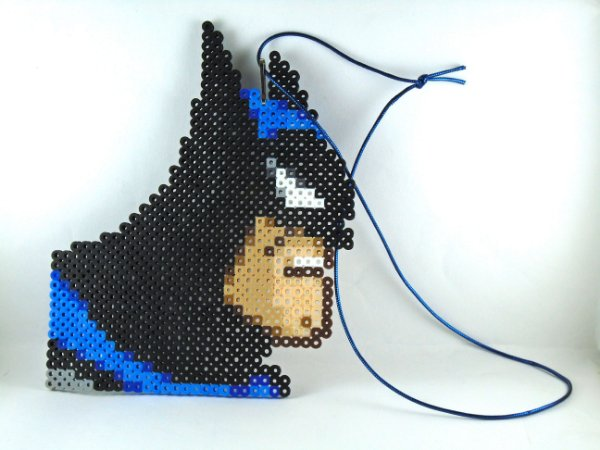 DC Batman Animated Enfeite Parede Pixel Art 18 Cm