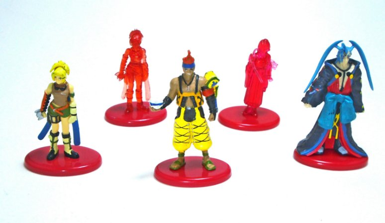 Coca Cola Square Final Fantasy X FF10 Figure Set com 5