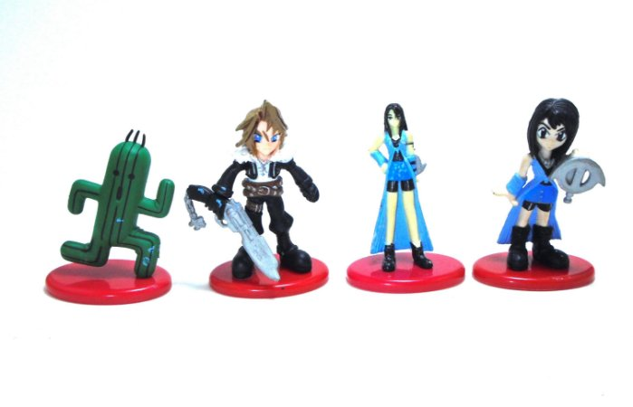 Coca Cola Square Final Fantasy 8  FF8  Figure Set com 4