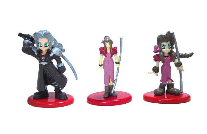 Coca Cola Square Final Fantasy 7  FF7  Figure Set com 3