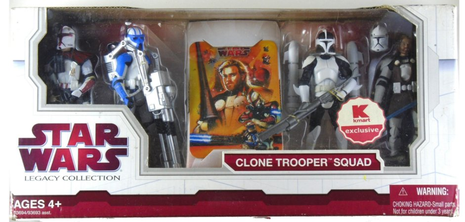 Hasbro Star Wars Legacy Clone Trooper Squad Exclusivo Kmart