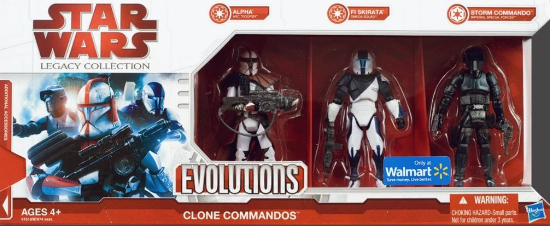 Hasbro Star Wars Legacy Clone Commandos Exclusivo Walmart