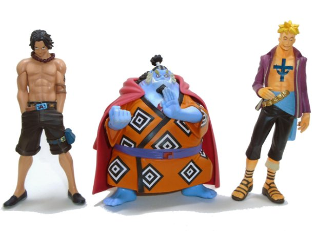 Banpresto One Piece Set Ace, Marco, Jimbei Trading Art